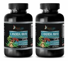 Aloe vera leaves - CANDIDA AWAY COMPLEX 1275 mg - antioxidant powder - 2 Bottles