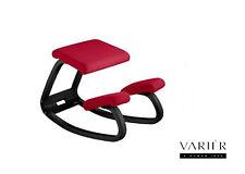 Sedia ergonomica VARIER VARIABLE BALANS legno laccato Nero seduta col. Rosso