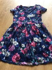 Girls 11-12 12 Dress Miss E-vie Blue Pink Floral Summer Party Sun Lace