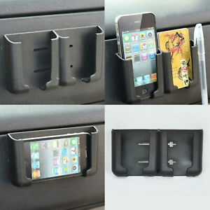 1pc Auto Car Cell Phone Card Holder Stand Cradle Console Bracket Box Accessories