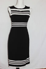 White House Black Market black and white pencil dress size XS