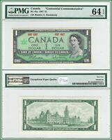 1967 Canada $1 Centennial Commemorative Dollar PMG 64 EPQ Choice Uncirculated