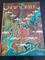New Yorker COVER ONLY Oct 8, 1949 Geese Flying over New York City VINTAGE