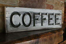 Fixer upper wall decor farmhouse kitchen sign COFFEE rustic wood signs carved