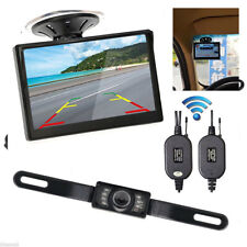 "5""Wireless Night Visible Monitor Car Rear View System Backup Reverse Camera Kit"