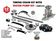 FOR NISSAN NAVARA D40 2.5TD PICKUP 2006-2010 NEW TIMING CHAIN KIT + WATER PUMP