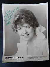 "Dorothy Loudon Autographed 8"" X 10"" Photograph from Estate"