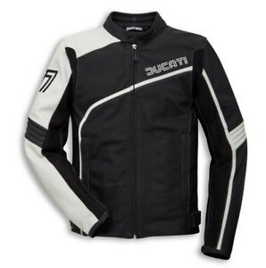 Ducati Dainese 77 Retro Leather Jacket Black New 2020