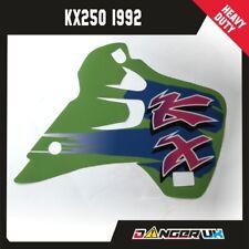 KAWASAKI KX 250 1992  RAD SCOOPS RADIATOR SHROUDS GRAPHICS DECALS