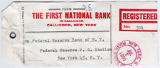 Bank Tag Registered 1960, Liberty Series, First National Bank in Callicoon N.Y.