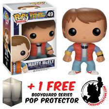 FUNKO POP BACK TO THE FUTURE MARTY MCFLY VINYL FIGURE + FREE POP PROTECTOR