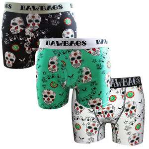 Bawbags Day Of The Dead 3 Pack Boxer Shorts