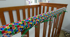 Baby Cot Crib Rail Cover Very Hungry Caterpillar Large Coloured Dots **REDUCED**