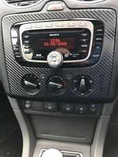 3D Carbon fibre black radio dash FACELIFT 2006 on to fit Ford Focus Mk2  Zetec