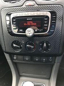 3D Carbon fibre black radio dash FACELIFT 2006 on to fit Ford Focus Mk2  Zetec