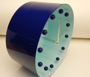 Wanduhr KARE Design Wand Uhr Tank Blue Blau Metall Designuhr Modern Deko