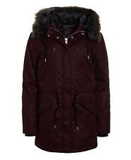 Superdry Microfibre Alessandra Parka chaquetas L-wine