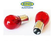 2 x P21/5W 780 BAY15D 1157 RED STOP TAIL CAR BULBS TWIN CONTACT & FILAMENT RU780