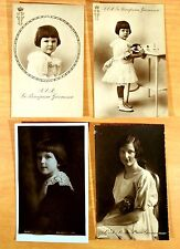 4 Postcards Princess Giovanna of Italy Queen Tsaritsa of Bulgaria Royalty 2 rppc