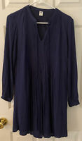 Old Navy Shift Dress Navy Blue With Lining Women's Size XS Cuffed Sleeve