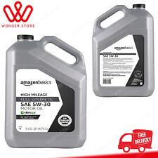 AmazonBasics High Mileage Motor Oil Full Synthetic Sn Plus dexos1-Gen2 5W-30 .