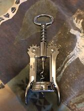 Irvinware Vintage Chrome Corkscrew Wine Opener Barware Made in Usa