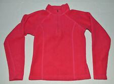 Obermeyer Kids XL Girls Size 8 Soft Sparkly Bright Pink Pullover 1/4 Zip-Up Top