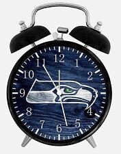"Seattle Seahawks Alarm Desk Clock 3.75"" Home or Office Decor E447 Nice For Gift"