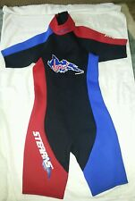 Stearns Viper Size Small Wet Suit For Water Activities Black/Blue/Red In Euc