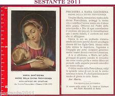186 SANTINO HOLY CARD MARIA SANTISSIMA MADRE DELLA DIVINA PROVVIDENZA
