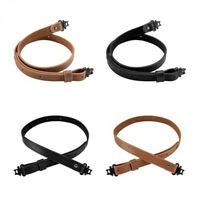 Buffalo Leather Rifle Gun Sling with Durable Gun Straps Black and Brown