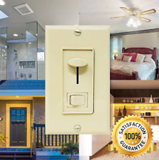 Adjustable Light Dimmer Switches for LED, Halogen or CFL w/ Wall Plate - Beige