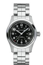 New Hamilton Khaki Field Auto Black Dial Stainless Steel Men's Watch H70455133