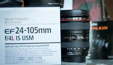 Canon EF 24-105mm F/4.0 L IS USM Zoom Lens BOXED - case and hood hardly used N/R