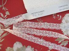 55m FC221 White Nottingham Valenciennes Cotton Lace by Cluny Lace Co