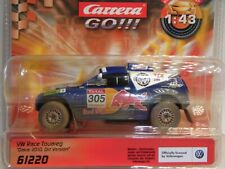 Carrera Go 1:43 VW Race Touareg Dakar 2010 CAR61220 for Slotcar Racing Track