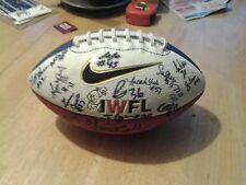 IWFL Autographed Football 36 on Ball Autos Auto  (READ)
