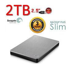 "NEW 2TB 2.5"" SEAGATE Backup Plus SLIM Portable External Hard Drive HDD USB3.0"