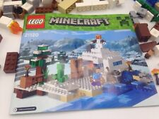Lego Minecraft 'The Snow Hideout' #21120 Not Complete No Figures