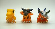 "Bandai Digimon lot of 3 Agumon Greymon MegalGreymon 2"" kid figures toys Japan"
