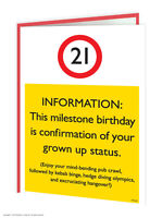 Brainbox Candy 21st Birthday Greeting Age Card funny novelty cheeky joke humour