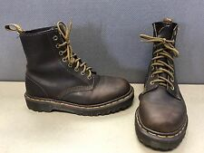 Doc Dr. Martens England Brown leather eyelet lace up combat work boots Women 5