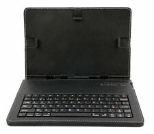 Black Faux Leather AZERTY Keyboard Case for the Dell Latitude 7285