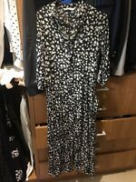 Zara Cotton Florlal Maxi Dress Sz 8-10 Rrp$99