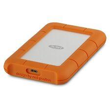 2TB LaCie Rugged Mini External Hard Drive - USB 3.1 Type C, Orange