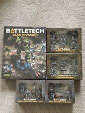 Battletech Clan Invasion Box Set Inner + Sphere Lance x 2 Clan Star x 2 Catalyst