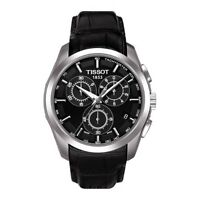 TISSOT COUTURIER  CHRONOGRAPH WATCH T0356171605100 BLACK LEATHER RRP £360