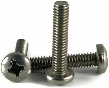 Stainless Steel Phillips Pan Head Machine Screw #5-40 x 1/4, Qty 100