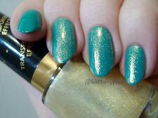 NEW! Revlon Nail Polish Lacquer in GOLD GLAZE ~ GREENISH GOLD FLECK SHIMMER