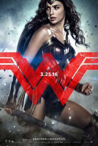 BATMAN VS SUPERMAN DAWN OF JUSTICE MOVIE POSTER DS ORIGINAL WONDER WOMAN 27x40